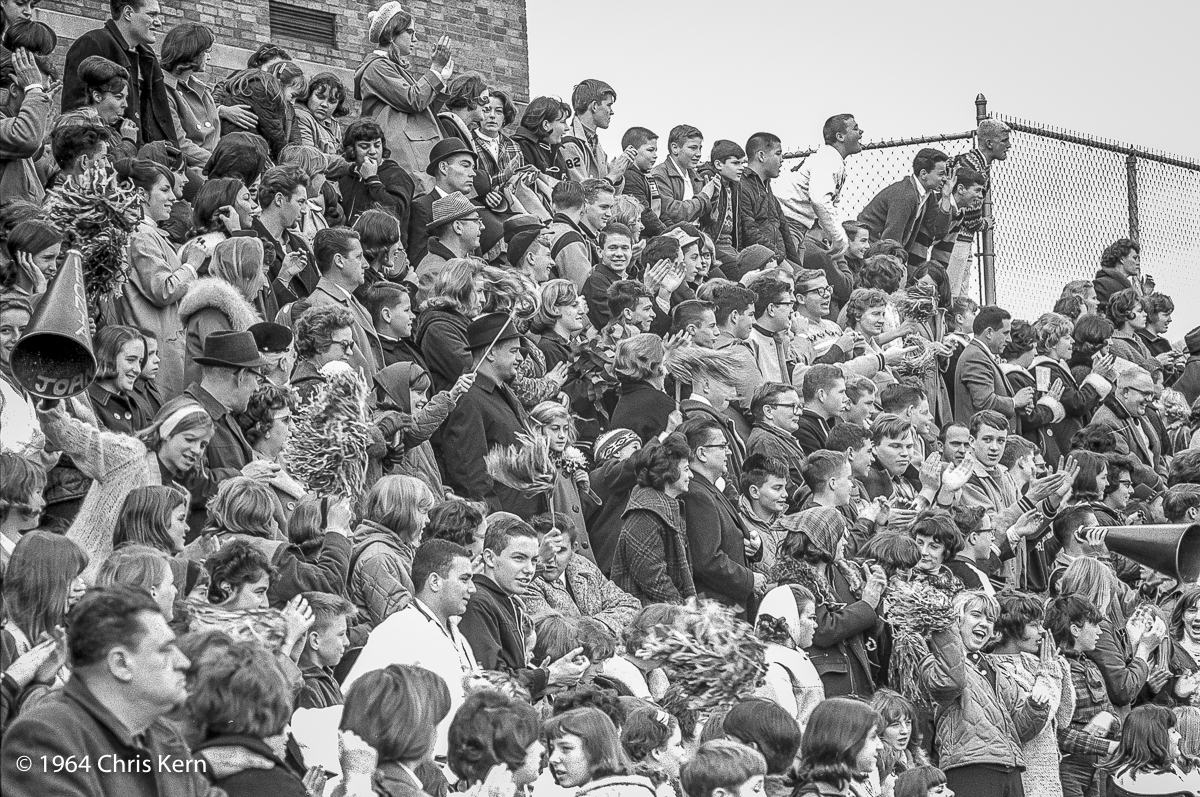 High School Football Fans, Leonia, New Jersey, USA (1964)