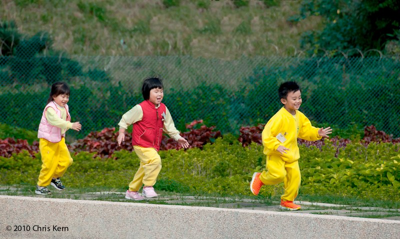 Kids in Yellow Pants, Danshui, Taiwan, (2010)