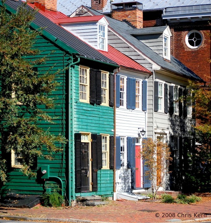 Old Town Row Houses, Alexandria, Virginia, USA (2008)