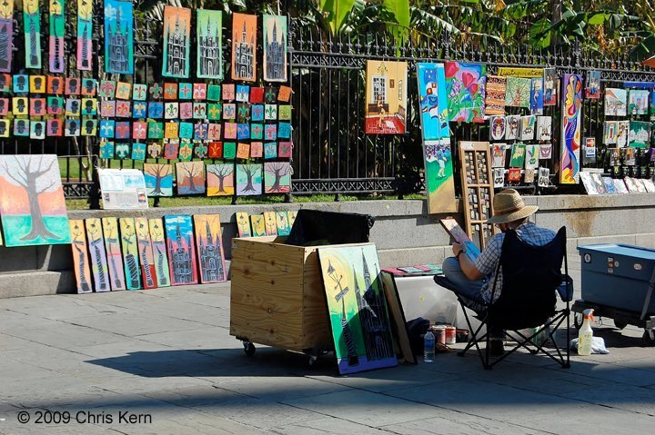Painter on Jackson Square, New Orleans, Louisiana, USA (2009)