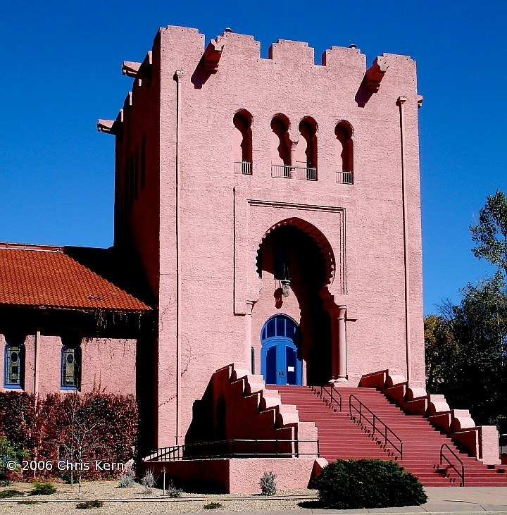 Scottish Rites Masonic Temple, Santa Fe, New Mexico, USA (2006)