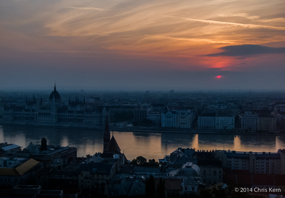 Sunrise Over the Danube, Budapest, Hungary (2014)