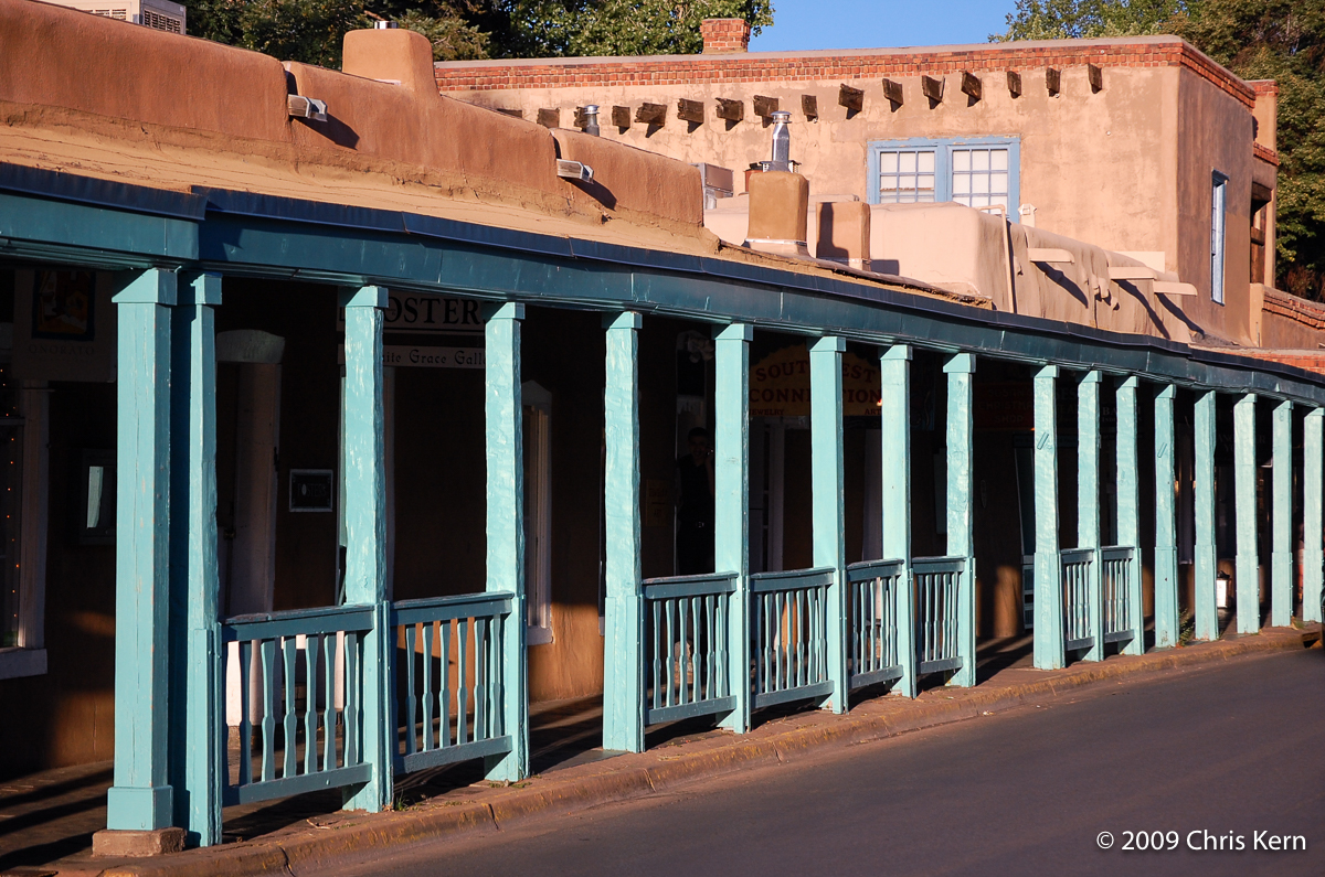 Covered Walk on East Palace Avenue, Santa Fe, New Mexico, USA (2009)