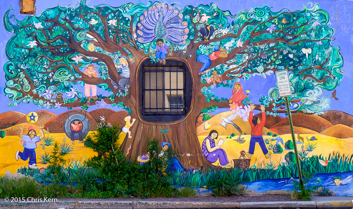 Sheridan Avenue Mural, Santa Fe, New Mexico, USA (2013)
