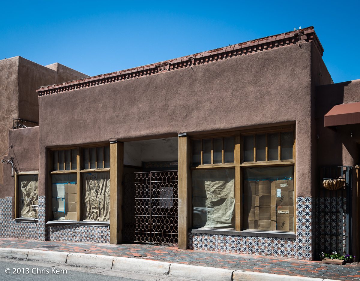 Vacant Building on Galisteo Street, Santa Fe, New Mexico, USA (2013)